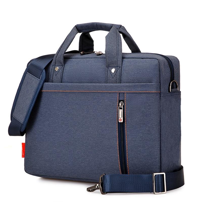 Business Portable Unisex Nylon Computer Handbags Zipper Shoulder Laptop Simple Bags Briefcase Black Men Messenger Bags