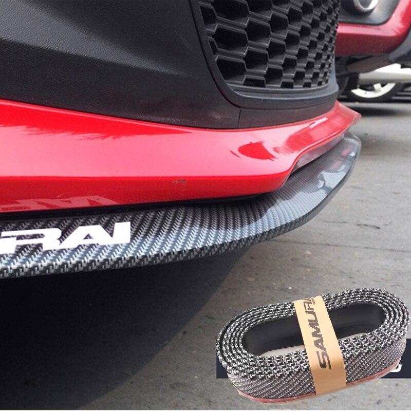 2.5m Car Bumper Lip Protector Carbon Fiber Rubber Strip For Hyundai Ix35 IX45 IX25 I20 I30 Sonata,Verna,Solaris,Elantra