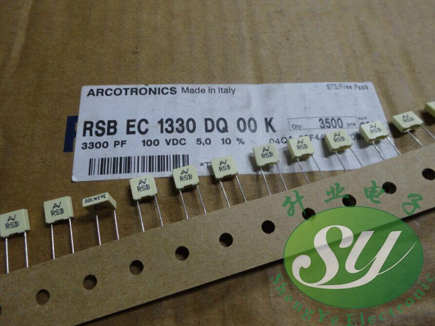 10pcs 3A332 0.0033uf 3.3nf 3300pf 1000V Mylar Film Capacitor