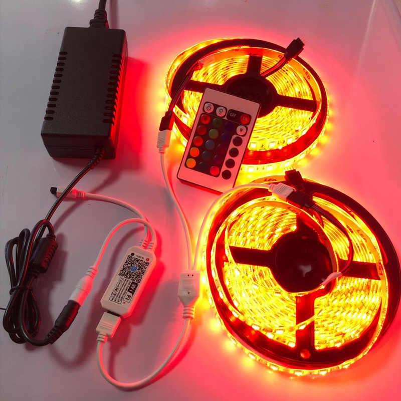 RGB LED Streifen Licht wifi Lichter SMD 5050 Flexible Farbwechsel LED Luces Licht Streifen WIFI Controller 12v 24V 5M 10M 15M 20M