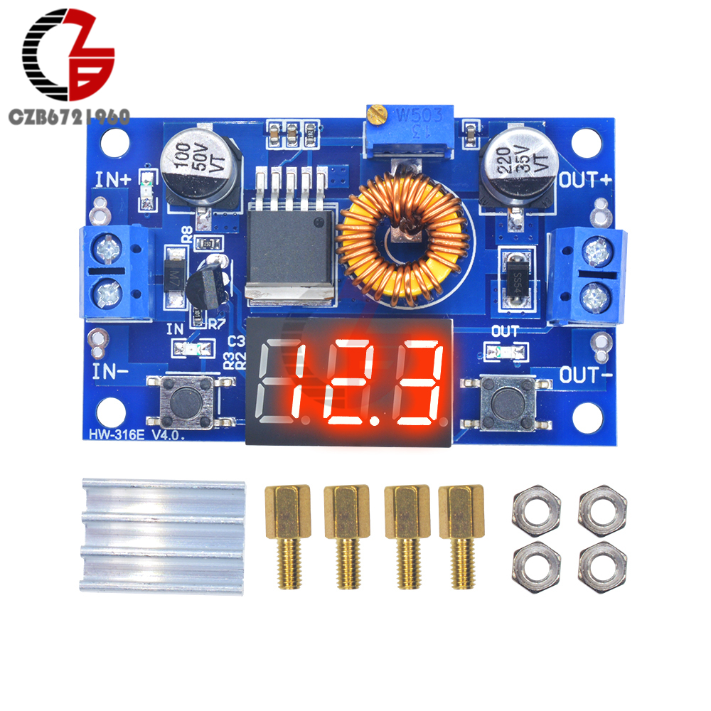 5A 75W DC DC Step down Converter w LED Voltmeter for Battery Power Transformer