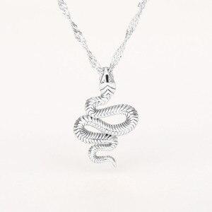 Модная Золотая цепочка из нержавеющей стали, ожерелье с подвеской в виде змеи для женщин и девушек, колье, бижутерия, Женская Очаровательная бижутерия, подарок на день рождения 2020|Ожерелья с подвеской|   | АлиЭкспресс