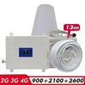 2G 3g 4G трехдиапазонный усилитель сигнала GSM 900 + (B1) WCDMA 2100 + (B7) FDD LTE 2600 сигнал сотового телефона ретранслятор мобильного сотового усилителя комп...