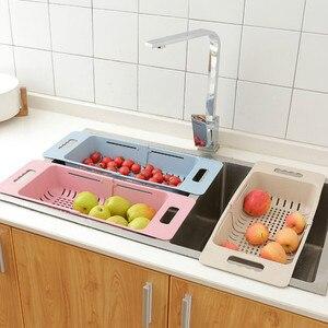 Retractable sink, drain rack, storage rack, kitchen, plastic bowl, chopsticks rack, household vegetable storage rack, bowl rack