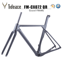 2017 Tideace Updated Axle 142/135mm Road MTB Gravel Carbon Bike Frame Gravel Carbon Bicycle Frame Cyclocross Disc Bike Frame ican bikes carbon fat bike frame 197mm rear axle carbon snow bike fat frame carbon toray t700 carbon frame sn01