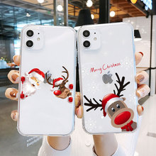 Cute Animal Cat giraffe Gifts funny christmas elk Phone Case For huawei p40 mate 20 lite P20 P10 P30 Lite Soft TPU Silicone