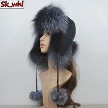 Women Hat Bomber-Hats Snow Winter Fashion Fur Couple Ear-Protection Fox-Fur Trend Thicken