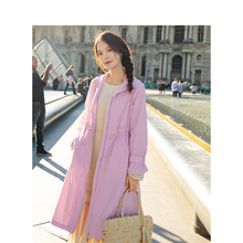 INMAN Spring Autumn High Collar Windproof Korean Style Fashion Long Sleeve Trench
