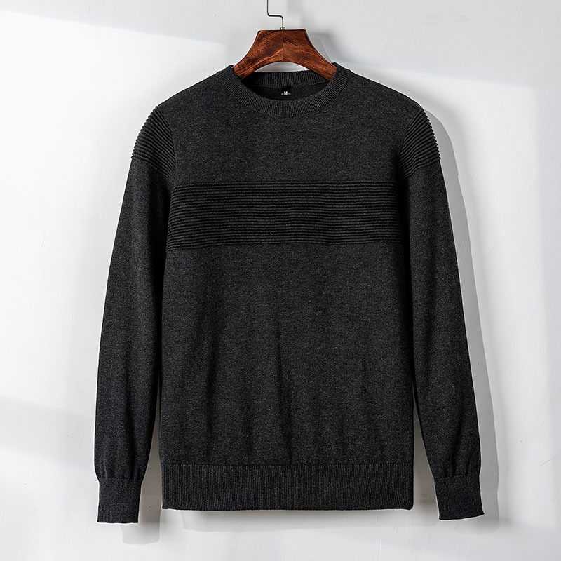 MRMT 2019 Brand New Autumn Men's TShirt Sweater Knitting Shirt Fashion T-shirt For Male Round-collar Pullover Pure Color Sweater