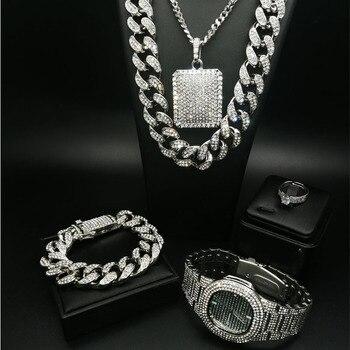 סט מטורף, שרשרת, טבעת, שעון, תליון, וצמיד גולדפילד