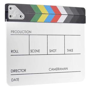 Image 4 - אקריליק צבעוני Clapperboard קלאפר לוח יבש למחוק מנהל לחתוך טלוויזיה סרט סרט פעולה צפחת Clap בעבודת יד לחתוך אבזר