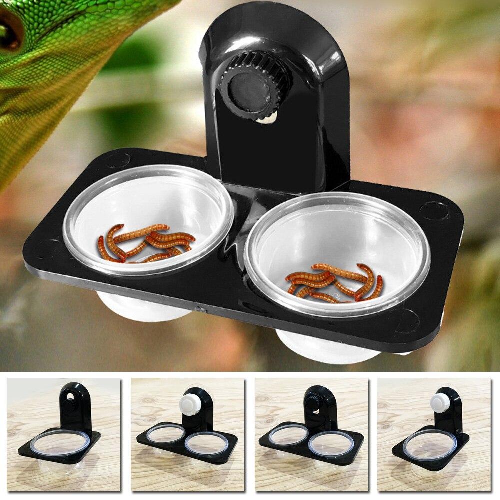Reptile Tank Insect Spider Ants Nest Food Water Feeding Bowl Terrarium Breeding Feeders Box font b