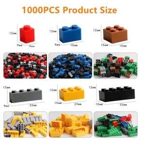 Image 2 - 1000 штук город DIY творческие строительные блоки оптом наборы Brinquedos друзья классические кирпичи развивающие игрушки для детей