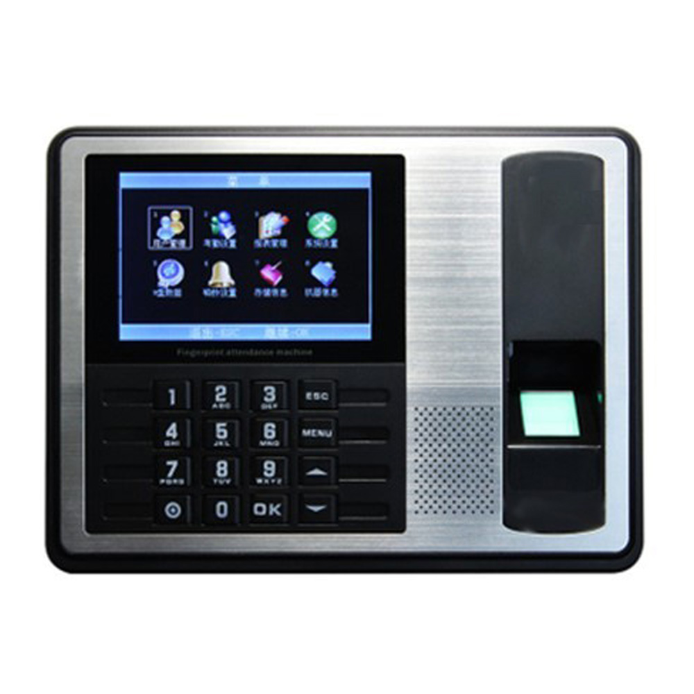 4.3 Inch Tft Tcp/Ip Biometric Fingerprint Time Attendance Clock Recorder Employee Recognition Device Id Reader System Eu P