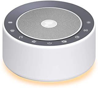 Letsfit White Noise Machine with 7-Color Night Lights, 30 High Fidelity Soundtracks, full Touch Metal Grille and Buttons, Tim 1