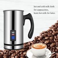 DIDIHOU 304 Stainless Steel Electric Milk Frother Foam Machine Cappuccino Bubble Coffee Maker Heater for Latte Hot Chocolate Hot