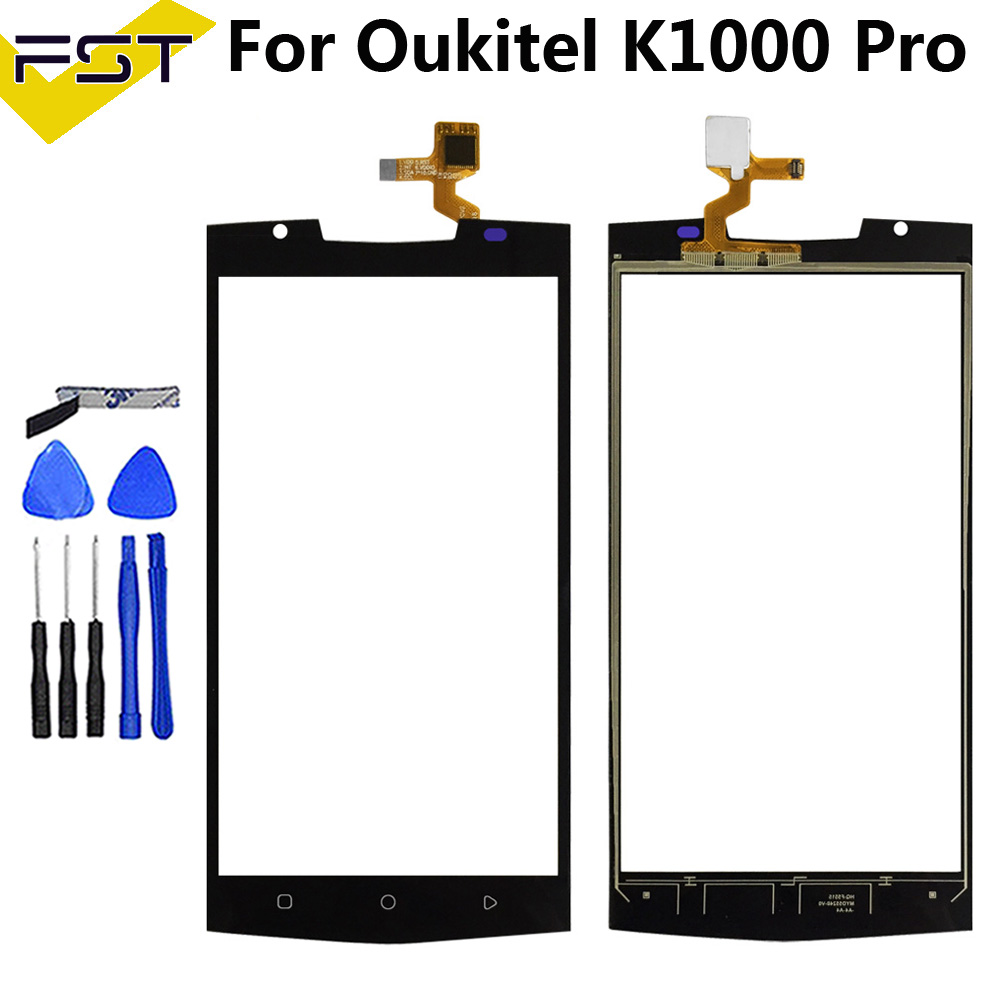 Mobile Phone 5.5'' Touch Screen Glass For Oukitel K10000 Pro Digitizer Panel Touchscreen Front Glass Lens Sensor Adhesive