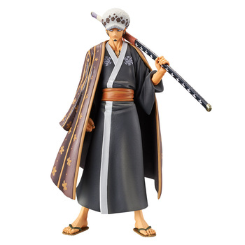 18 CM One Piece The Grandline Men Trafalgar Law Land of Wano Country Ver. Action Figure PVC Collection Model Toy japan anime one piece original banpresto big size collection figure trafalgar law