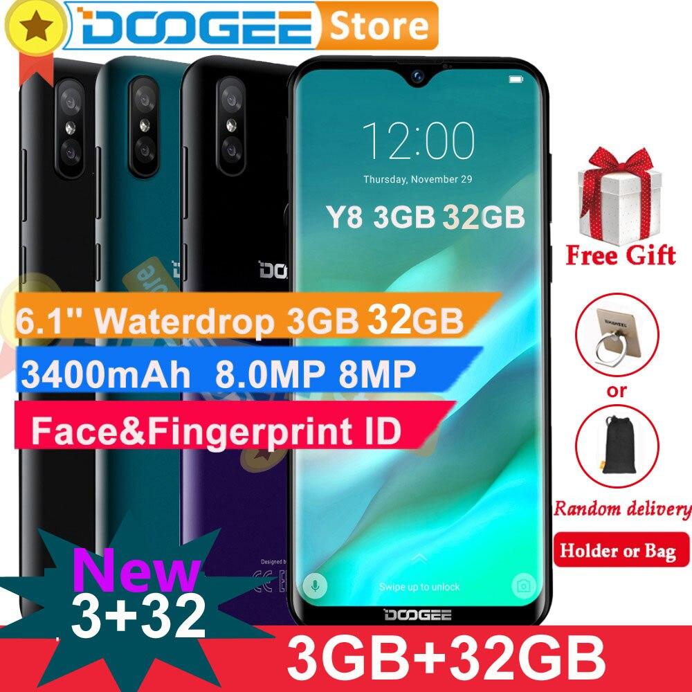 """Doogee Y8 z systemem Android 9.0 telefon komórkowy 4G LTE 3GB 32GB 6.1 """"FHD ekran 19:9 3400mAh MTK6739 odblokowanie twarzy identyfikator odcisków palców smartfon w Telefony Komórkowe od Telefony komórkowe i telekomunikacja na AliExpress - 11.11_Double 11Singles' Day 1"""