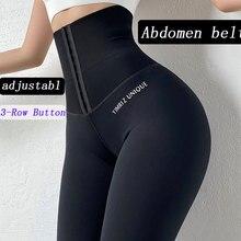 2020 штаны для йоги эластичные спортивные Леггинсы с высокой талией компрессионные колготки спортивные штаны пуш-ап женские леггинсы для бег...