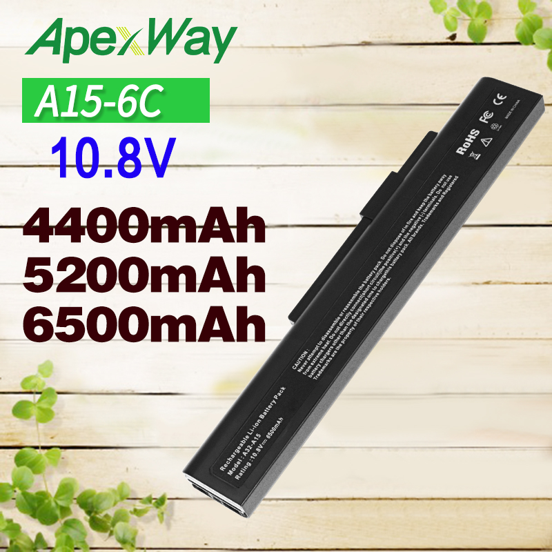 Apexway 11.1V Laptop Battery For <font><b>MSi</b></font> A32-A15 A6400 CR640 CR640DX CR640MX CR640X CX640 <font><b>CX640DX</b></font> CX640X A41-A15 A42-A15 A42-H36 image