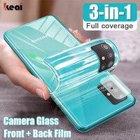 Screen Protector Für Samsung Galaxy A51 A71 A50 A70 M31 M51 Hydrogel Film S10 S20 fe S21 Plus Hinweis 20 ultra 10 Lite Kamera Glas