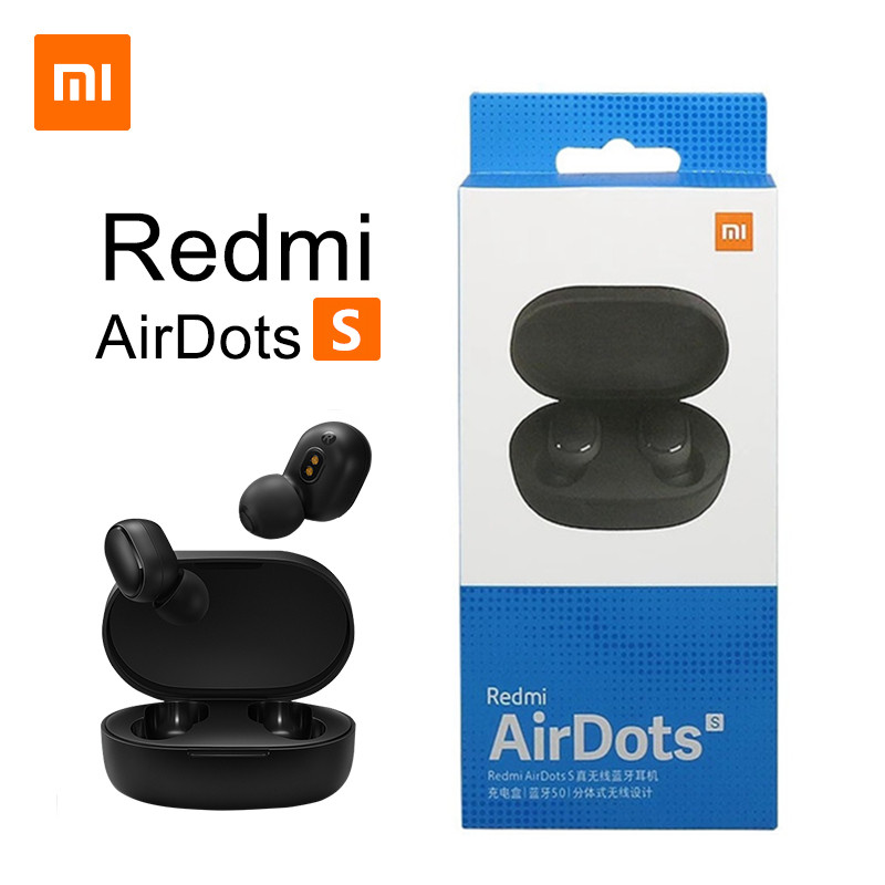 New Xiaomi Redmi AirDots 2 Wireless Bluetooth 5.0 redmi airdots2 Mi Ture Wireless Earbuds In-Ear stereo bass redmi airdots s