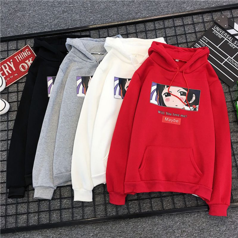 2019 Fashion Sweatshirt Hoodie For Women Korean Ulzzang Harajuku Streetwear Long Sleeve Hooded Sweatshirts Female Top