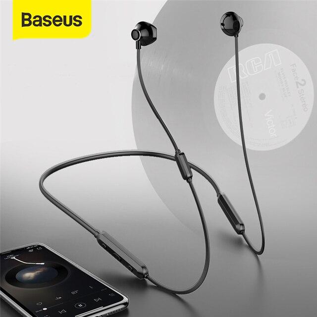 Baseus s11a bluetooth fone de ouvido esporte sem fio fones de ouvido bluetooth fone para iphone xiaomi 9