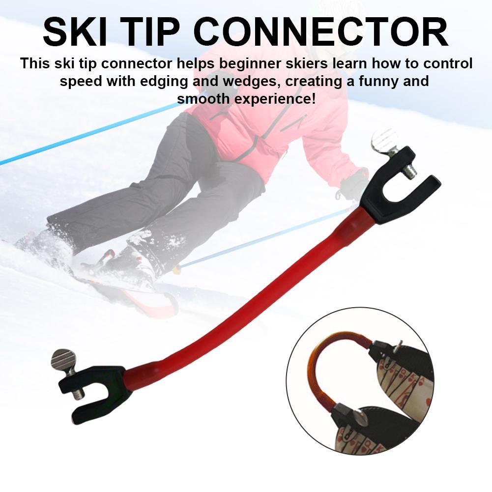 Лыжный наконечник разъем компактный контроль скорость защита Открытый начинающих обучение Спорт Дети латекс легко Клин эластичный зажим