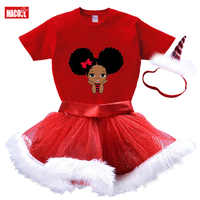 Conjuntos de vestidos de Navidad para niñas, vestidos de bautismo para bebés de 2 a 8 años, camiseta de manga corta para fiesta de cumpleaños y trajes rojos, 2020
