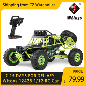 Wltoys 12428 1/12 RC Car 2.4G 4WD Electric Brushed Racing Crawler RTR 50km/h High Speed RC Off-road Car Remote Control Car Toys(China)