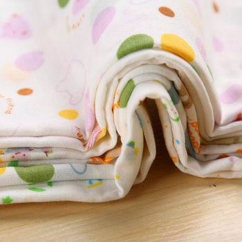 10PCS Baby Feeding Towel Teddy Bear Bunny Dot Chart Printed Children Small Handkerchief 2