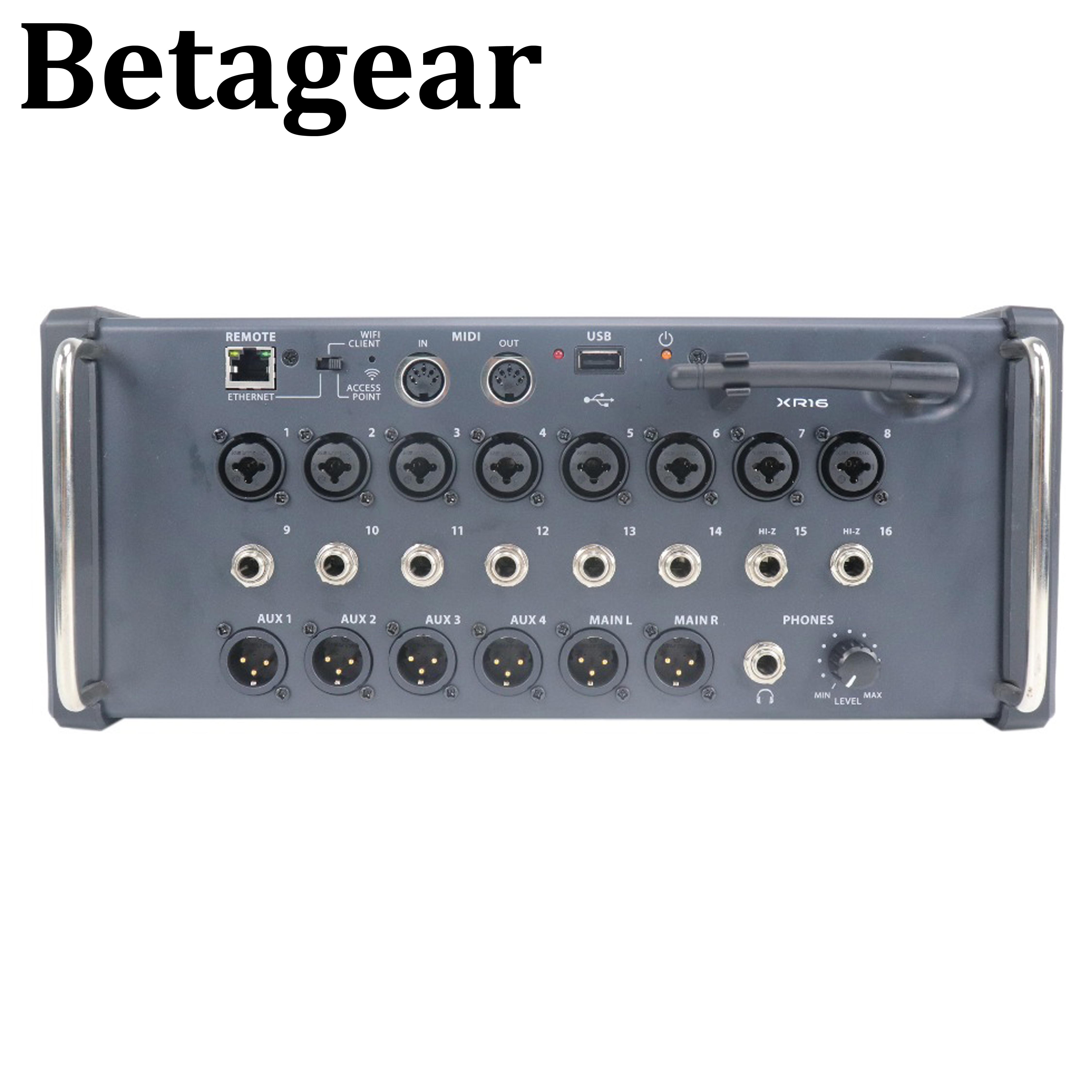 Betagear XR16 table de mixage numérique audio professionnel console de mixage dj Studio Wifi & USB enregistreur stéréo console de mixage