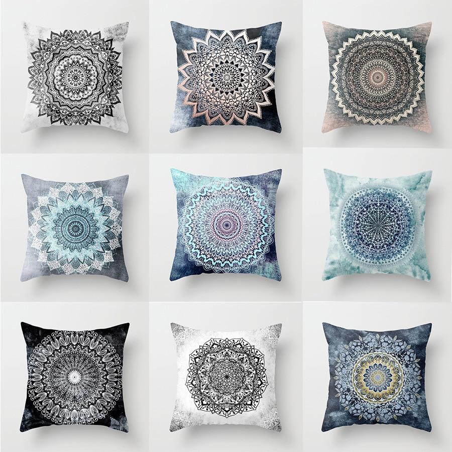 New Year Bohemian African Indian Mandala Decorative Cushion Cover Throw  Pillow