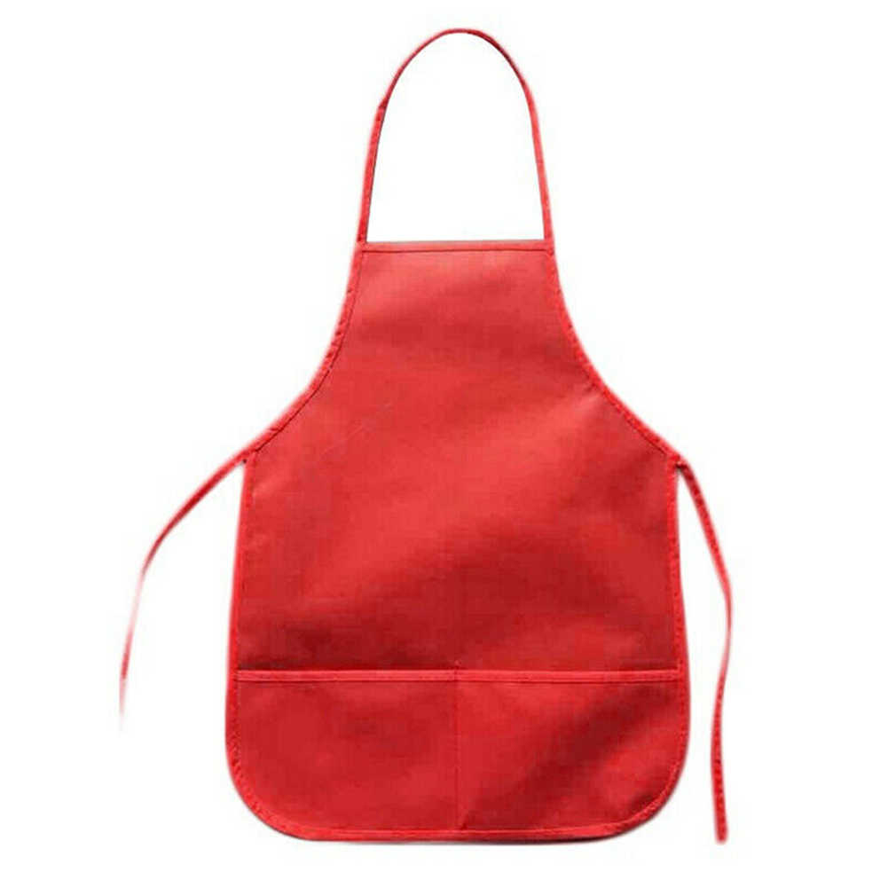 Unisex Colorful Children Aprons Waterproof Non-Woven Fabric Painting Pinafore Kids Apron for Activities Art Painting Class Craft Color : Black