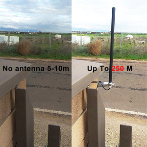 The signal enhancement antenna 433mhz is used for various remote control signal enhancements such as garage door gates remote