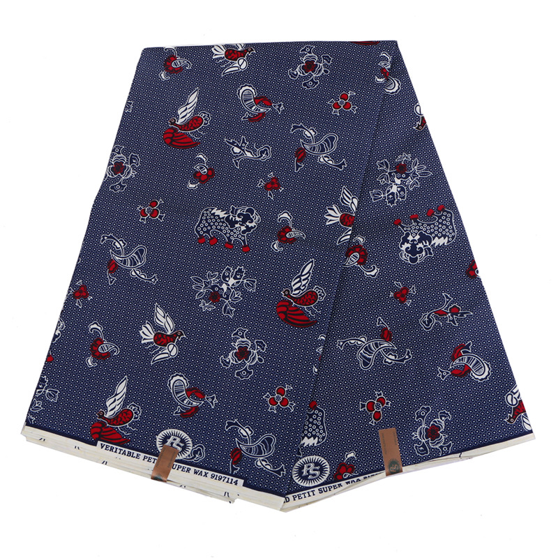 New Design Cute Printed Cartoon DIY Holland Wax Fabrics For Sewing 6Yards\set