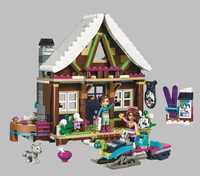 408 pièces Ami 10731 Neige Chalet Resort Modele Kit De Construction Blocs Briques Fille Jouets Pour Compatible Legoinglys
