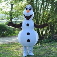 Hot Sale High quality Smiling olaf Mascot Costume Snowman Character Costume Cosplay Halloween Christmas birthday party