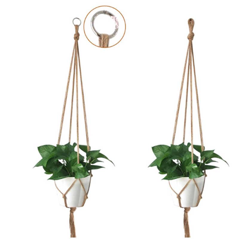 المنزل حديقة شرفة الديكور macrمكرامية النباتات شماعات هوك حامل وعاء الزهور الساقين سلسلة معلقة حبل جدار الفن