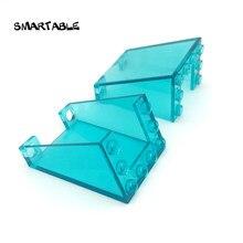 Smartable-bloques de construcción MOC para ventana de coche para niños, juguetes de ladrillo compatibles con las principales marcas, ciudad 4872, 10 unids/lote, 3x4x4