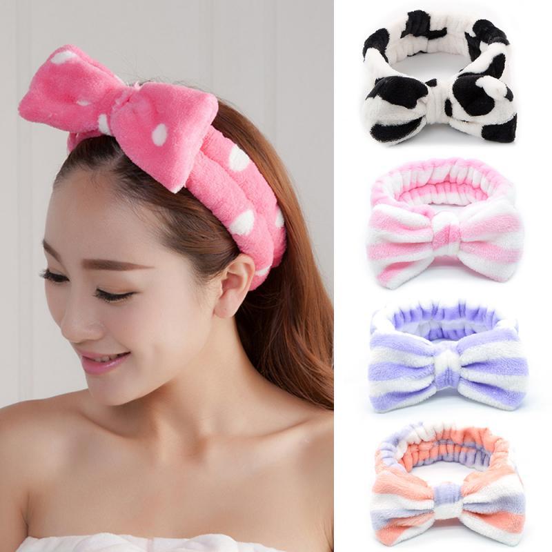 1 PCS Fashion Women Girls Hairband Kawaii Cute Elastic Headdress Makeup Washing Face Hair Band Hair Accessories Jewelry TSLM1