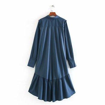 2020 Spring Summer New zaraing women Shirt Dress vadiming sheining female dress sexy vintage plus size clothes Cdc9522 3