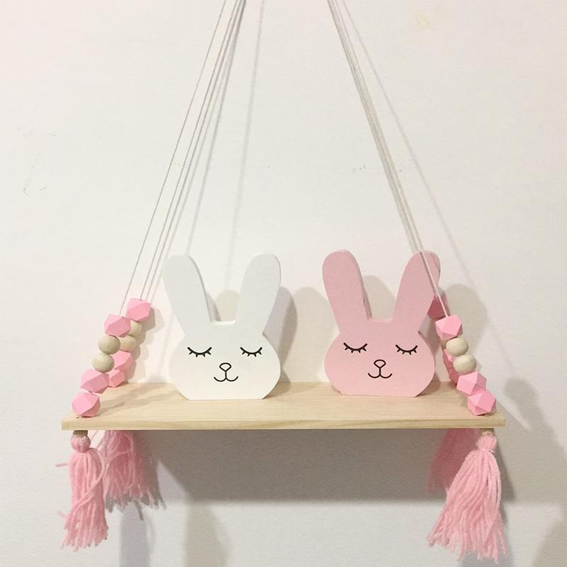 Wooden Bunny Room Decor Cute Kids Corner