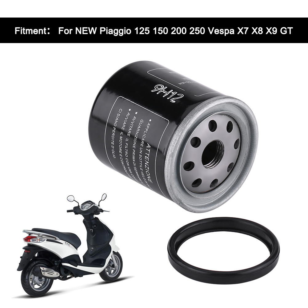 Motorcycle Oil Filter for Piaggio 125 <font><b>150</b></font> <font><b>200</b></font> 250 Vespa X7 X8 X9 GT image