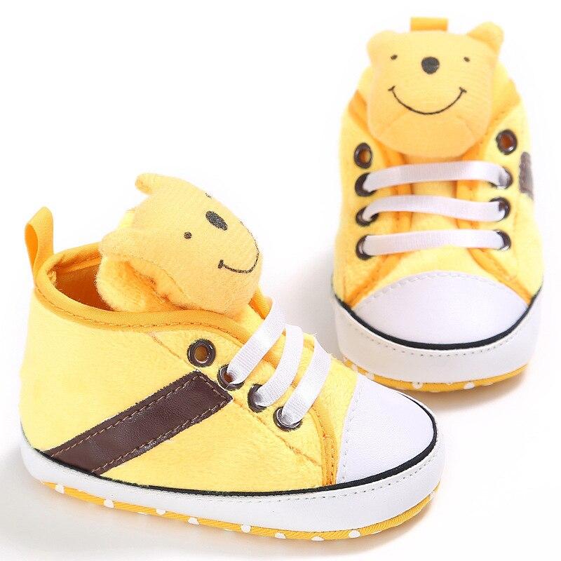 Disney bébé fille garçon semelle souple dessin animé Winnie l'ourson chaussures antidérapantes confortable enfant en bas âge bébé chaussures dans bébé premiers marcheurs