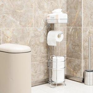 Хромированная отделка из нержавеющей стали для ванной комнаты, рулон туалетной бумаги, держатель для хранения с запасной отдельно стоящей ...