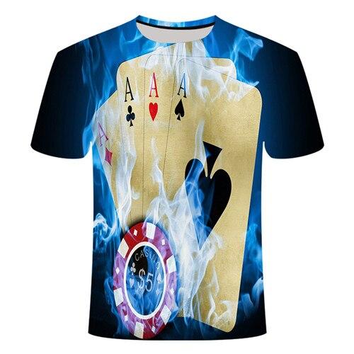 Летняя футболка с 3D принтом в виде пива, покера, для мужчин и женщин, забавная Новинка, футболка с круглым вырезом и коротким рукавом, топы, модные уличные мужские футболки - Цвет: TX020