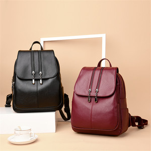 Image 2 - Sac à dos de luxe en cuir pour femmes, sacoche décole, collège, pour adolescentes, 2019